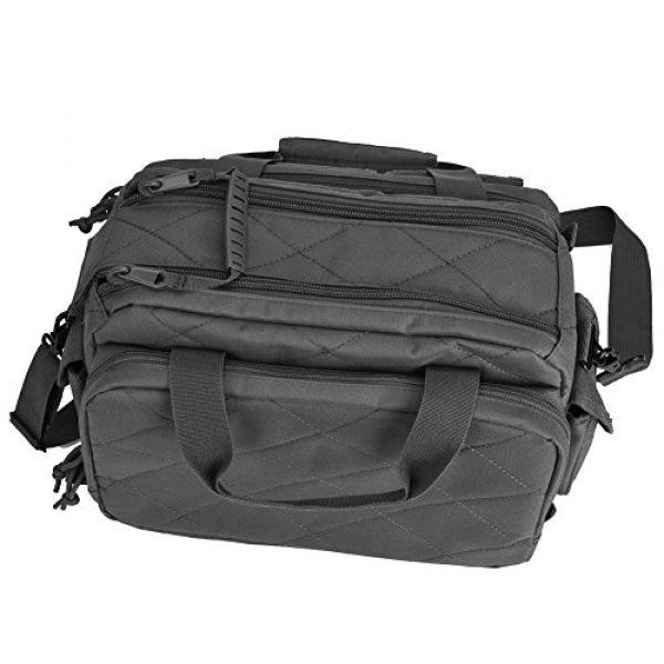REEBOW TACTICAL Pistol Case 6 REEBOW TACTICAL Tactical Gun Range Bag, Deluxe Pistol Shooting Range Duffle Bags