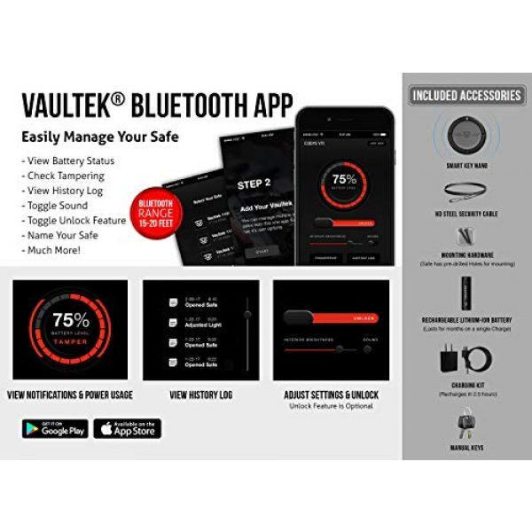 Vaultek Pistol Case 5 VAULTEK VTi Full-Size Biometric Handgun Bluetooth Smart Safe Multiple Pistol Safe with Auto-Open Lid and Rechargeable Battery