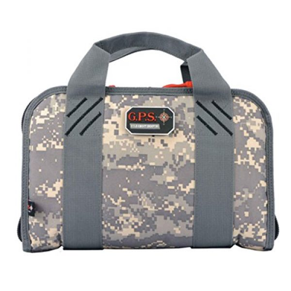 G5 Outdoors Pistol Case 1 G. Outdoor Products G.P.S. GPS-1308PCDC Double Pistol Case Digital, One Size