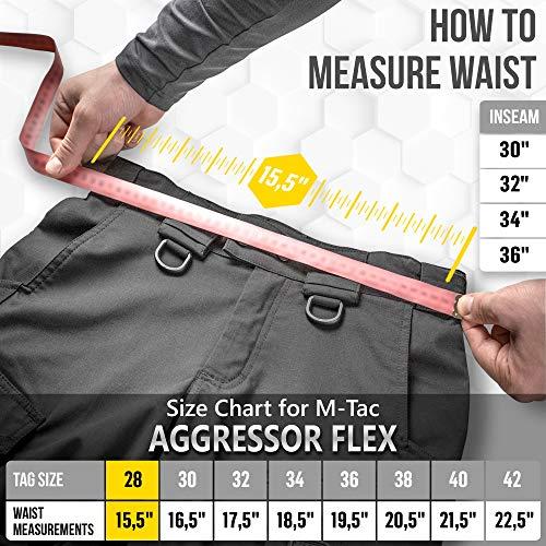 M-Tac Tactical Pant 6 Aggressor Flex - Tactical Pants - Men Cotton with Cargo Pockets