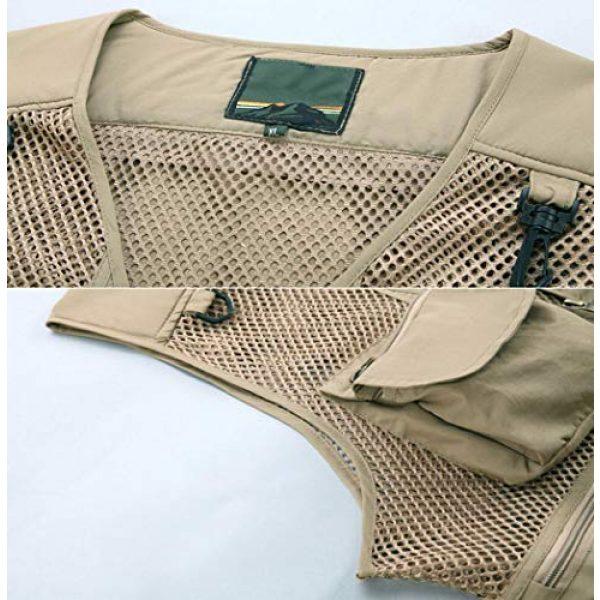 DAFREW Airsoft Tactical Vest 4 DAFREW Casual Vest Multi-Pocket Quick-Drying Vest mesh Breathable Vest Outdoor Leisure Fishing Photography Vest (Color : Green, Size : L)