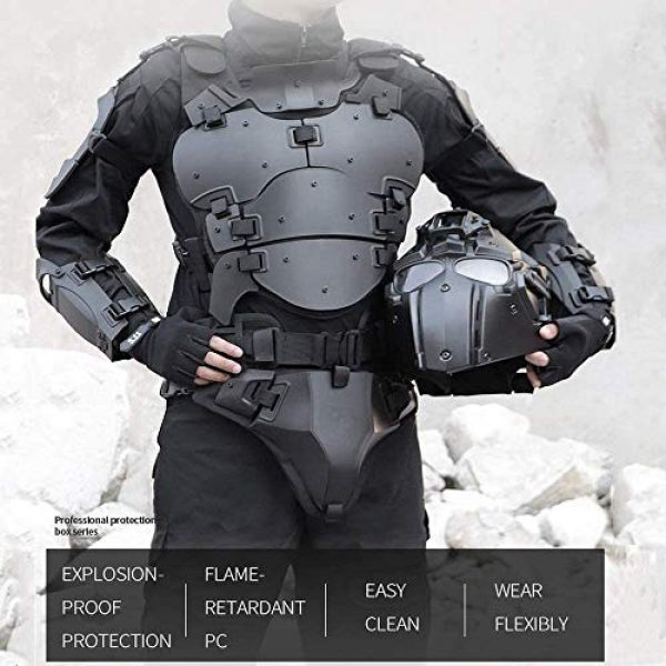 WoSporT Airsoft Tactical Vest 7 Airsoft Vest Body Armor Vests Adjustable Tactical Molle Chest Protector Vest+Elbow+Shoulder+Crotch+Battle Belt Set Paintball Military Combat Training Gear Motorcycle CS Cosplay Movie Costumes