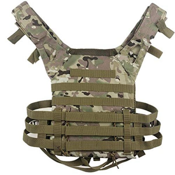BGJ Airsoft Tactical Vest 5 BGJ Men Hunting Tactical Vest Military Molle Plate Carrier Magazine Airsoft Paintball CS Outdoor Protective Lightweight Vest