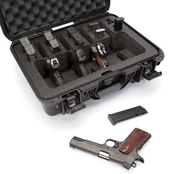 Nanuk Pistol Case 5 Nanuk 925 Waterproof Professional Gun Case, Military Approved with Custom Foam Insert for 4UP