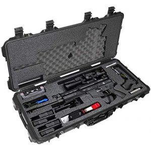 Case Club Rifle Case 1 Case Club SCAR17S Pre-Cut Waterproof Rifle Case with Accessory Box and Silica Gel to Help Prevent Gun Rust (Gen 2)