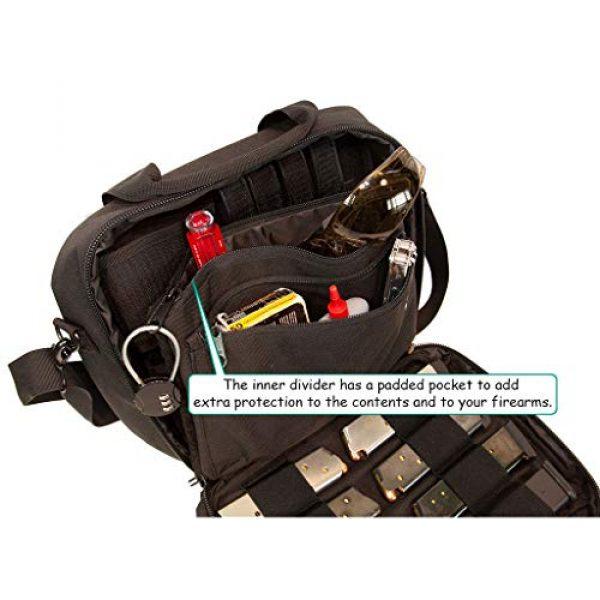 First Choice Gear Pistol Case 5 Pistol Case Range Bag for Handguns by FirstChoice - 2 to 4 Gun Padded Tactical Handgun Shooting Soft Case, Lockable Zippers w/Padlock, 3 Mini-Holsters, 8 Mag Slots, 4 Pockets, w/Range Mat