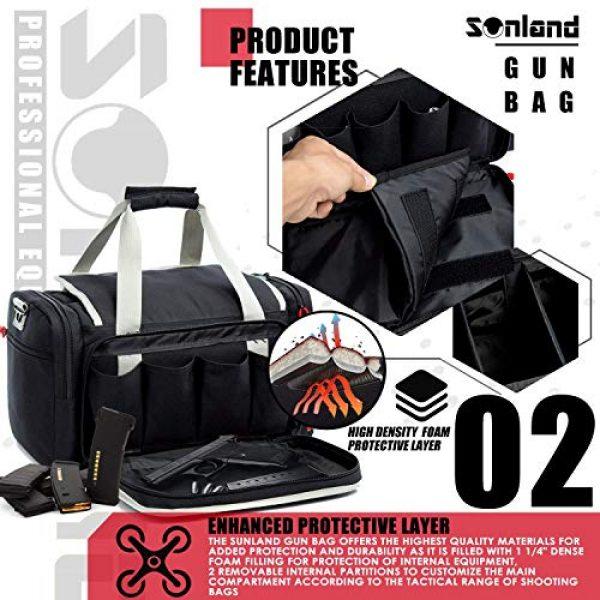 AUMTISC Pistol Case 3 AUMTISC Pistol Range Bag Tactical Shooting Gun Range Bag with Penty of Room for Handguns Lightweight Durable