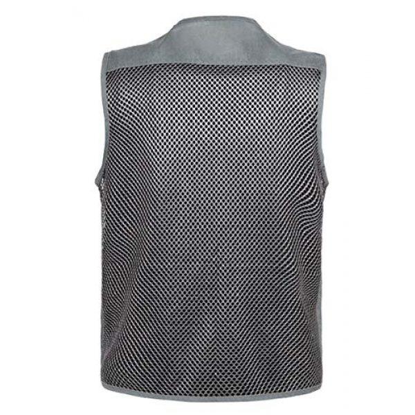 DAFREW Airsoft Tactical Vest 2 DAFREW Breathable Vest Photography Vest Fishing Vest Middle-Aged Men's Outdoor Leisure Vest mesh Breathable Vest (Color : Dark Gray, Size : M)