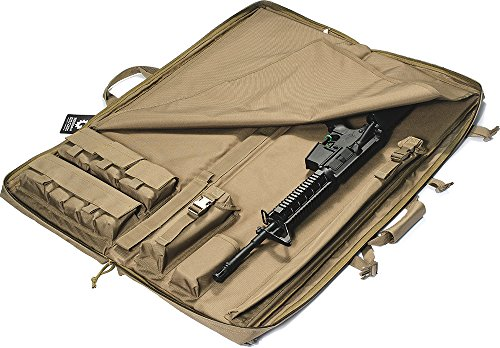 "Loaded Gear Rifle Case 3 Loaded Gear 40"" Rifle Tactical Rifle Gun Case Bag Unfolded to Become a Shooting Mat (Brown)"