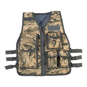 GOTOTOP Airsoft Tactical Vest 1 GOTOTOP Body Armor Vest, Nylon Mesh Children's Body Armor Vest, Body Armor Vest for CS Outdoor Sports Shootout Training