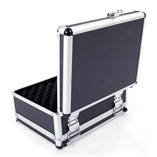 "brandless Pistol Case 5 Gun Security Safe Cabinet, Portable Aluminum Framed Gun Lock BoxDual Pistol Firearm and Valuables Safe with 3 Digits Combination Lock, Silver 11.81"" x 5.91"" x 9.05"""
