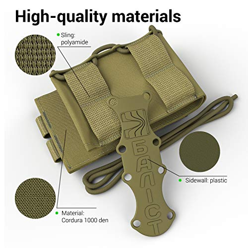 ATAIRSOFT  4 ATAIRSOFT KOLCHAN Fast MAG Mini Pouch 5.56mm 7.62mm 5.45mm Top Open Magazine Pouches Airsoft Hunting Equipment Holder Very Durable of 1000 D Cordura fastmag Holster and MOLLE Compatible