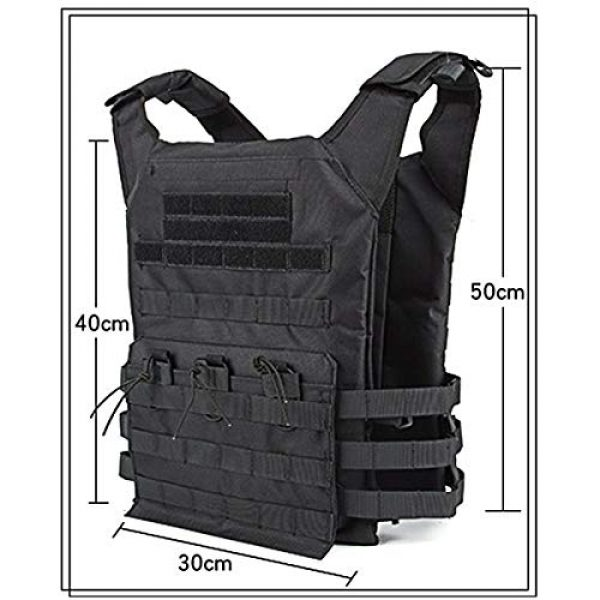 KIDYBELL Airsoft Tactical Vest 5 KIDYBELL Tactical Molle Vest Breathable Combat Training Vest 1000D Oxford Cloth Outdoor Activity Air Soft Vest Sports Equipment Modular Vest
