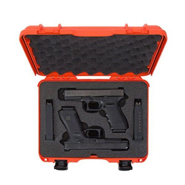 Nanuk Pistol Case 5 Nanuk 910 2UP Waterproof Hard Case w/Custom Foam Insert for Glock Pistols - Orange