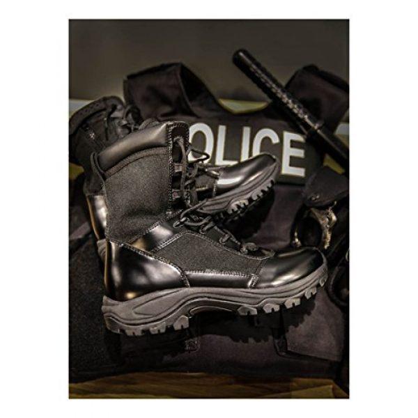 "Belleville Tactical Research TR Combat Boot 5 Belleville Tactical Research TR Men's Class-A TR908Z WP 8"" Waterproof High Shine Side-Zip Boot"