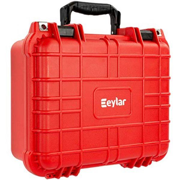 Eylar Pistol Case 1 Eylar Tactical Hard Gun Case Water & Shock Proof with Foam 13.37 inch 11.62 inch 6 inch Red