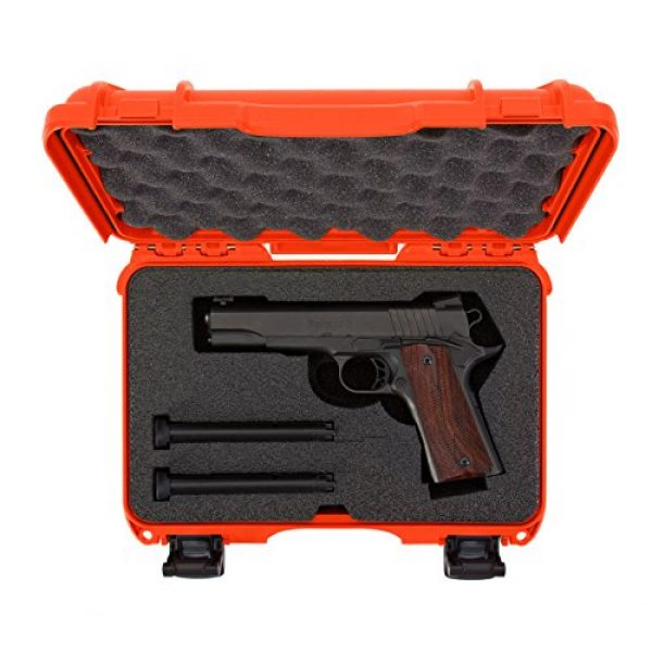 Nanuk Pistol Case 5 Nanuk 909 Waterproof Professional Glock Pistol/Gun Case, Military Approved with Custom Insert