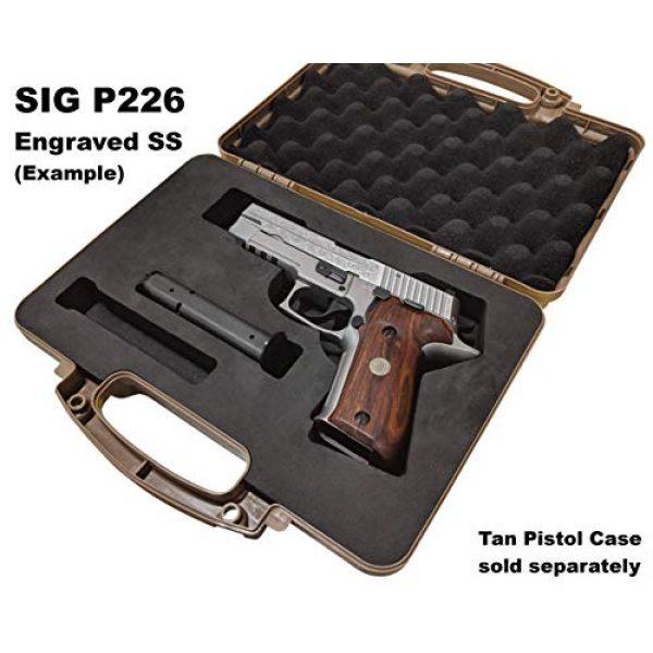 Cedar Mill Fine Firearms Pistol Case 3 Custom EVA Pistol Foam - 1911 Colt Beretta 90 CZ 75 SHADOW 1 and 2 9mm Canik SFX / SA FNH FNS Grand Power Excalibur H&K USP Magnum Research MR9 Ruger American SR11 Smith&Wesson SIG SAUER