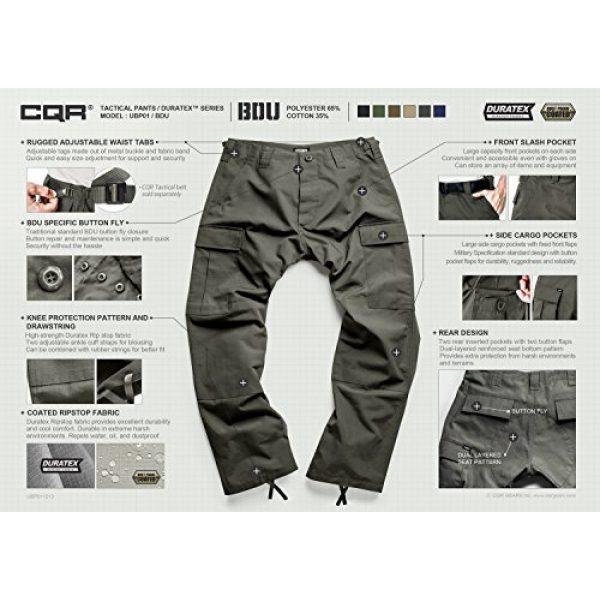 CQR Tactical Pant 6 Men's Tactical Pants, Military Combat BDU/ACU Cargo Pants, Water Repellent Ripstop Work Pants, Hiking Outdoor Apparel