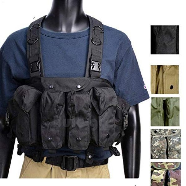 BGJ Airsoft Tactical Vest 2 BGJ Tactical Vest Airsoft Ammo Chest Rig AK 47 Magazine Carrier Camouflage Combat Vest Tactical Military Army Equipment