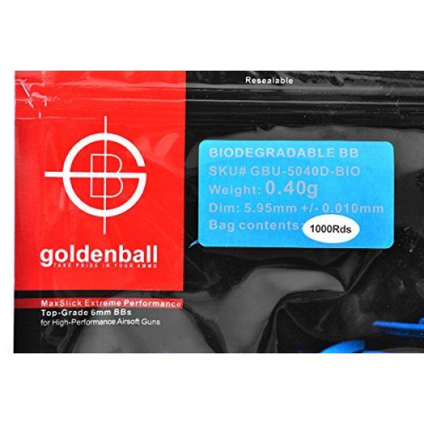 GoldenBall Airsoft BB 2 GoldenBall 0. 40g Biodegradable Airsoft BBS - 1000rd Bag - Black