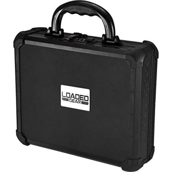 BARSKA Pistol Case 1 Loaded Gear AX-50 Hard Case, Medium, Black by BARSKA