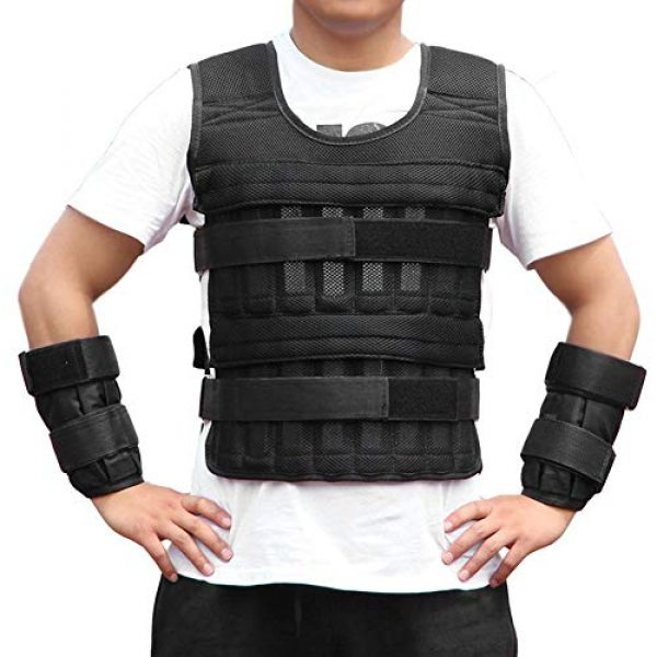 Aiggend Airsoft Tactical Vest 2 Tactical Vests, 50KG Weighted Vest Strength Training Jacket for Workout Fitness