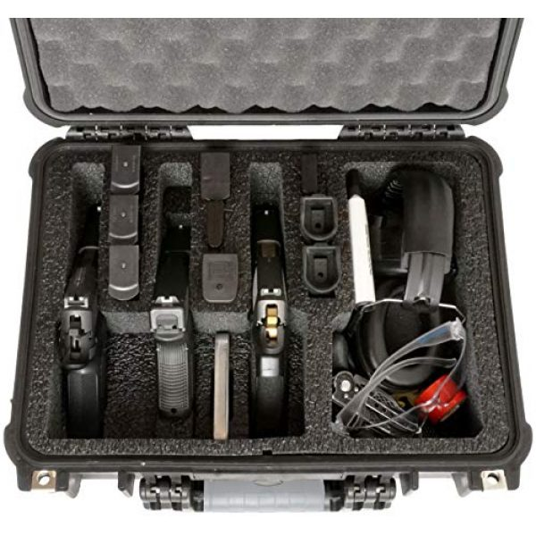 Case Club Pistol Case 4 Case Club 4 Pistol and 16 Magazine Pre-Cut Heavy Duty Waterproof Case with Included Silica Gel Canister to Help Prevent Gun Rust (Upgraded Gen-2)