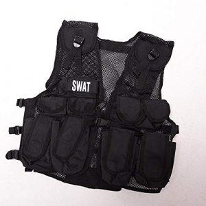 KAS Airsoft Tactical Vest 1 Kids Special Forces Stealth Combat Vest, Swat + Special Forces Badges.