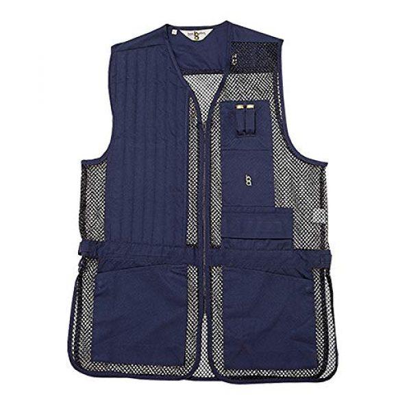 Bob-Allen Airsoft Tactical Vest 3 Bob-Allen Shooting Vest, Right Handed, Navy, Medium, 30178