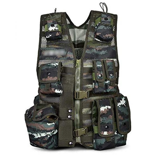 Armiya Airsoft Tactical Vest 1 Armiya Versatile Tactical Vest Removable Mesh Breathable Adjustable for Adult Outdoor