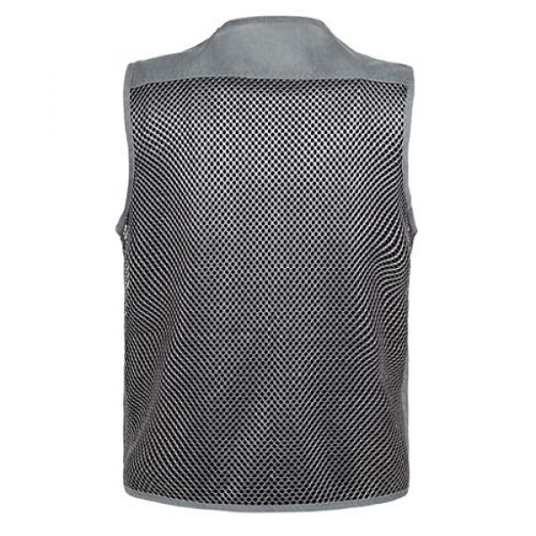 DAFREW Airsoft Tactical Vest 2 DAFREW Mesh Breathable Vest Multi-Function Leisure Fishing Photography Vest Quick-Drying Vest Multi-Pocket Men's Vest (Color : Gray, Size : XL)