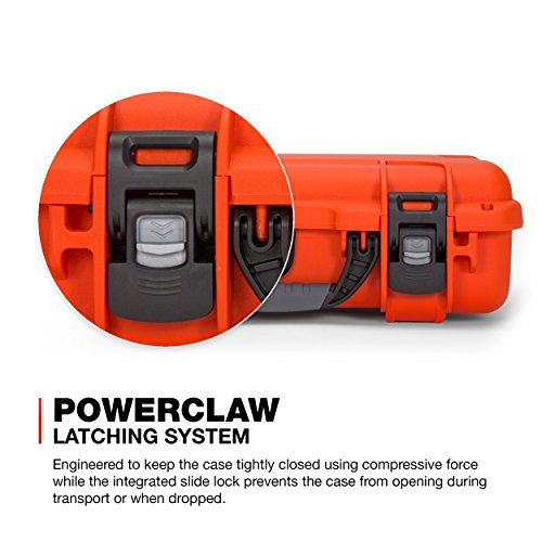Nanuk Pistol Case 4 Nanuk 910 2UP Waterproof Hard Case w/Custom Foam Insert for Glock Pistols - Orange