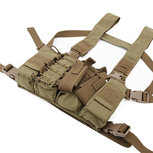 DETECH Airsoft Tactical Vest 2 DETECH Tactical Chest Rig Combat Recon Gear Vest with Magazine Pouch for Airsoft Hunting Games