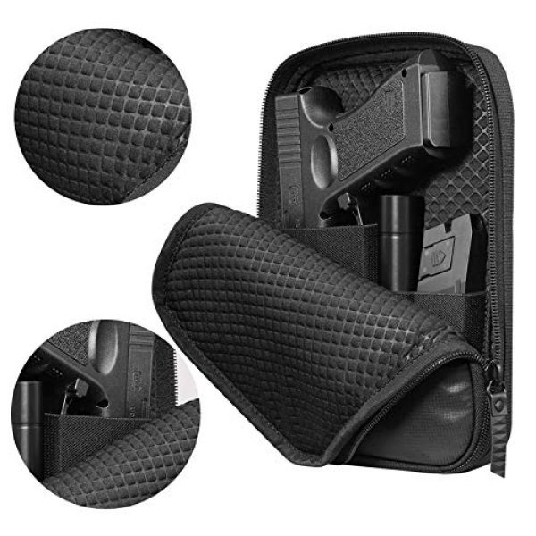 LIVIQILY Pistol Case 4 LIVIQILY Concealed Carry Pistol Cases Outdoor Tactical Holster Fanny Pack Gun Pouch Waist Pocket Hip Belt Bag Wallet for Handgun