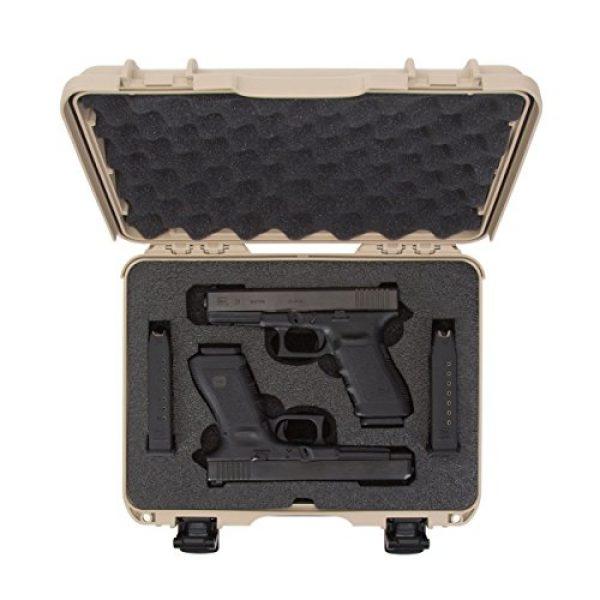 Nanuk Pistol Case 5 Nanuk 910 2UP Waterproof Hard Case w/Custom Foam Insert for Glock Pistols - Tan