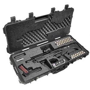 Case Club Rifle Case 1 Case Club Kel-Tec KSG and Standard Manufacturing DP-12 Pre-Cut Waterproof Shotgun Case with Accessory Box and Silica Gel to Help Prevent Gun Rust (Gen 2)