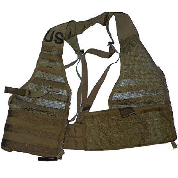 U.S.G.I. Airsoft Tactical Vest 5 2 X USMC Tactical FLC Vest, Fighting Load Carrier w/ Zipper, Coyote Brown, MOLLE II