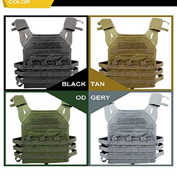 BGJ Airsoft Tactical Vest 4 BGJ Tactical JPC Vest Molle Plate Carrier Military Vest Airsoft Paintball CS Game Hunting Outdoor Protective Equipment