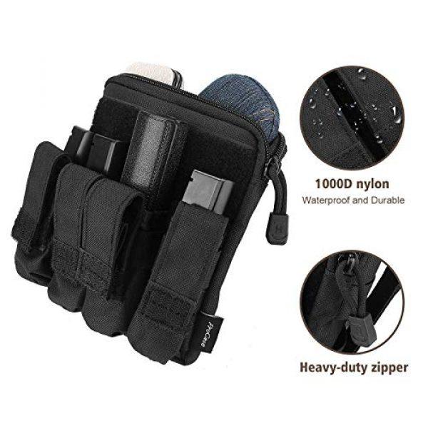 ProCase Pistol Case 4 ProCase Pistol Bag Ammo Accessories Pouch Bundle with Tactical Pistol Mag Pouch Submachine Gun Magazine Bag -Black
