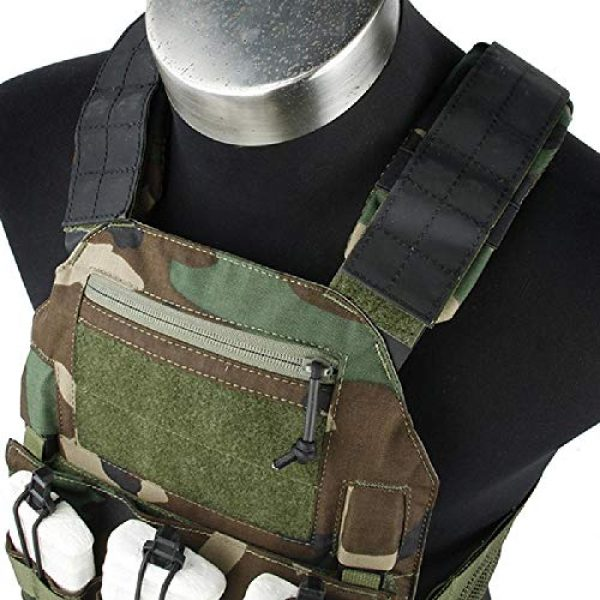 BGJ Airsoft Tactical Vest 2 BGJ Outdoor Tactical Vest Woodland 500D Cordura Domestic Fabric