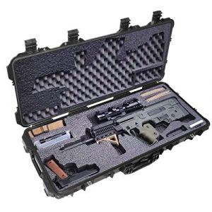 Case Club Rifle Case 1 Case Club Pre-Cut Waterproof Bullpup Rifle Case with Accessory Box & Silica Gel to Help Prevent Rust (Gen 2)