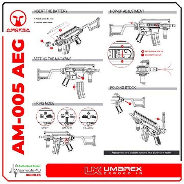 Wearable4U Airsoft Rifle 3 Umarex Elite Force Amoeba AM-005 AEG Electric Automatic 6mm BB Rifle Airsoft Gun (Gen5) with Wearable4U Bundle