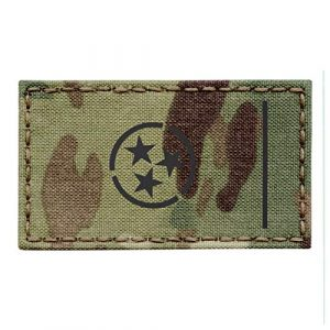 Tactical Freaky Airsoft Morale Patch 1 IR Multicam Tennessee State Flag 2x3.5 Infrared OCP IFF Tactical Morale Touch Fastener Patch