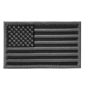 LEGEEON Airsoft Morale Patch 1 LEGEEON ACU Black USA American Flag ISAF Morale Tactical Army Touch Fastener Patch