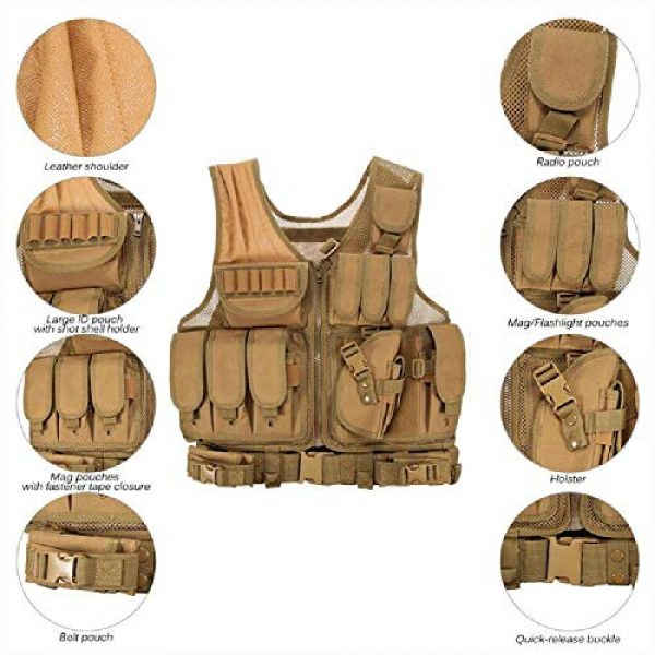 BGJ Airsoft Tactical Vest 7 BGJ Military Equipment Tactical Vest Police Training Combat Armor Gear Army Paintball Hunting Airsoft Vest Molle Protective Vests