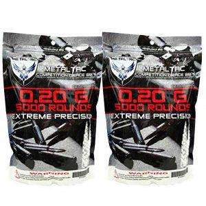 MetalTac Airsoft BB 1 MetalTac 0.2g BB 10,000 Round Bag Airsoft 6mm BBS Perfect Grade Pellet 6mm for Airsoft Guns Ammo