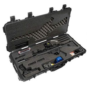 Case Club Rifle Case 1 Case Club HK MP5 Pre-Cut Waterproof Case with Accessory Box and Silica Gel to Help Prevent Gun Rust (Gen 2)