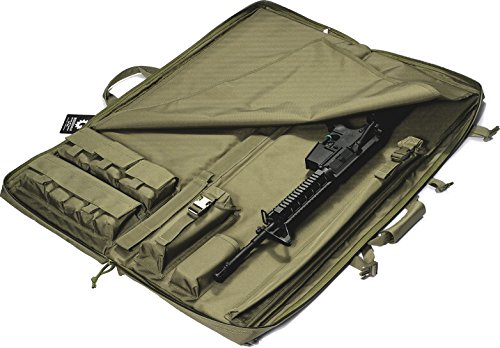 """Loaded Gear Rifle Case 3 Loaded Gear 40"""" Rifle Tactical Rifle Gun Case Bag Unfolded to Become a Shooting Mat (Green)"""