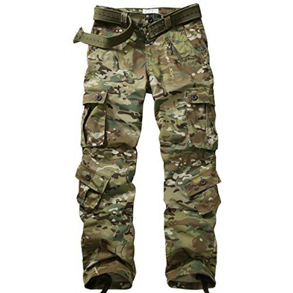 Hellmei Tactical Pant 1 Men's Tactical Pants with Multiple Pockets Men's Military Tactical Casual Camouflage Pants Hiking Pants